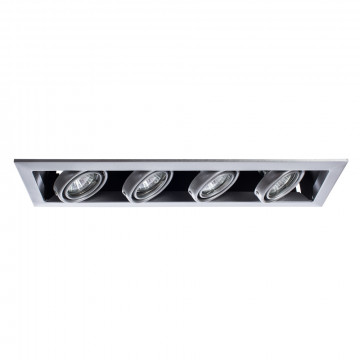 Встраиваемый светильник Arte Lamp Cardani Piccolo A5941PL-4SI, 4xGU10x50W, серебро, металл