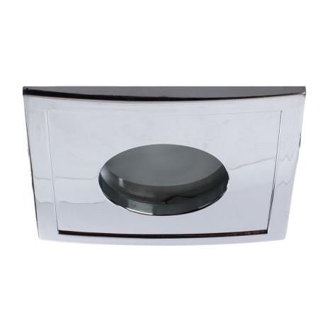 Встраиваемый светильник Arte Lamp Instyle Aqua A5444PL-1CC, IP44, 1xGU10x50W, белый, хром, металл, стекло
