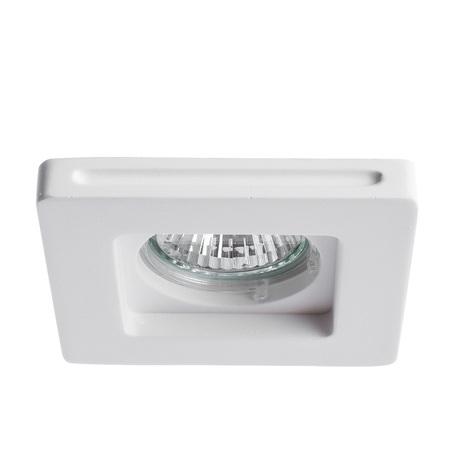 Встраиваемый светильник Arte Lamp Instyle Invisible A9214PL-1WH, 1xGU10x35W, белый, под покраску, гипс