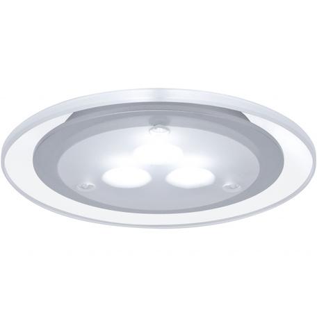 Встраиваемый мебельный светодиодный светильник Paulmann Micro Line Deco LED 98352, LED 3W, прозрачный, матовый хром, металл с пластиком