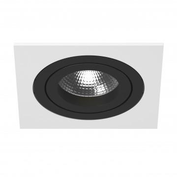 Встраиваемый светильник Lightstar Intero 16 i51607, 1xGU10x50W, черный, черно-белый, металл