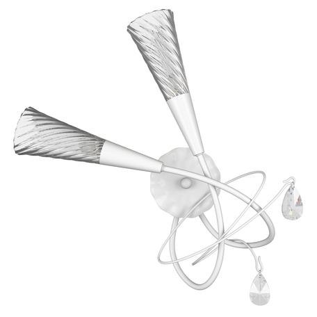 Бра Lightstar Aereo 711620, 2xG9x25W, белый, прозрачный, металл, стекло, хрусталь