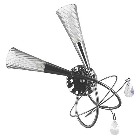 Бра Lightstar Aereo 711624, 2xG9x25W, хром, прозрачный, металл, стекло, хрусталь