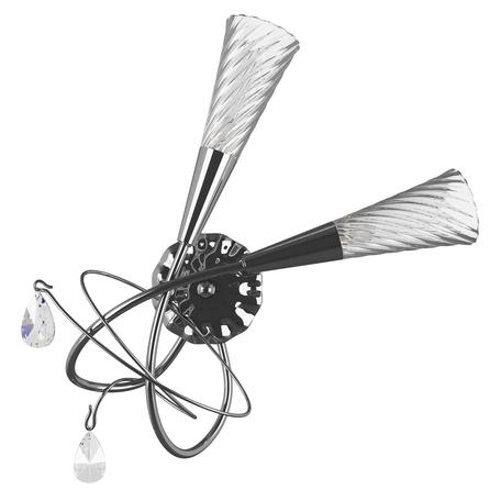 Бра Lightstar Aereo 711634, 2xG9x25W, хром, прозрачный, металл, стекло, хрусталь