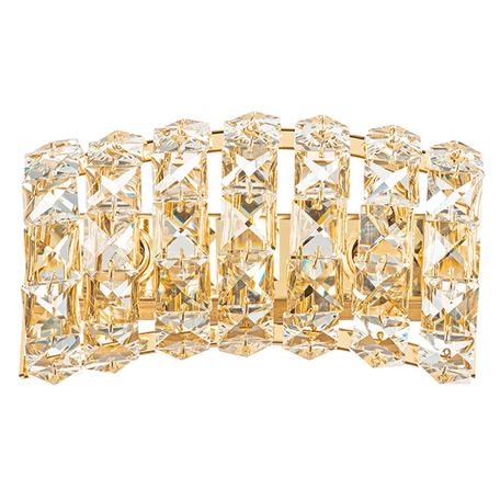 Бра Lightstar Onda 741622, 2xG9x40W, золото, прозрачный, металл, хрусталь