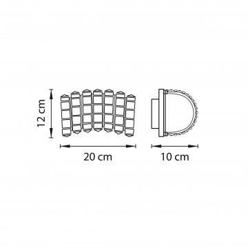 Схема с размерами Lightstar 741622