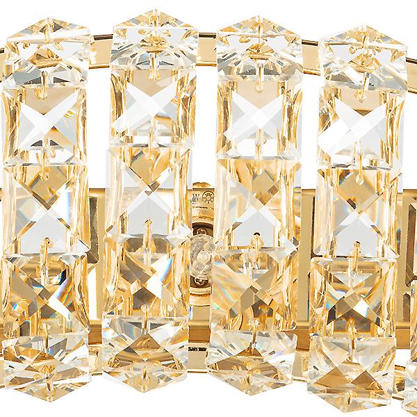 Бра Lightstar Onda 741632, 3xG9x40W, золото, прозрачный, металл, хрусталь - фото 2