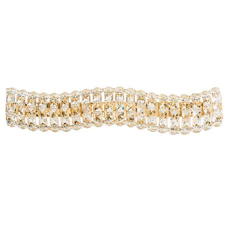 Бра Lightstar Onda 741642, 4xG9x40W, золото, прозрачный, металл, хрусталь