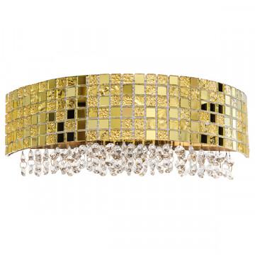 Бра Lightstar Bezazz 743622, 2xG9x40W, золото, прозрачный, металл, пластик, стекло