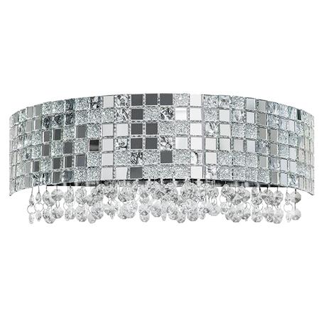 Бра Lightstar Bezazz 743624, 2xG9x40W, хром, прозрачный, металл, пластик, стекло