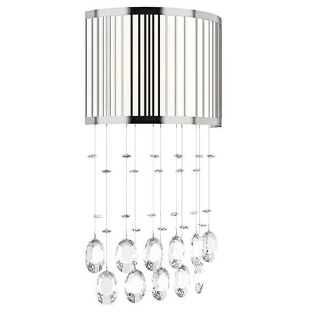 Бра Lightstar Cappe 745634, 3xG9x6W, белый, хром, прозрачный, металл, пластик, хрусталь