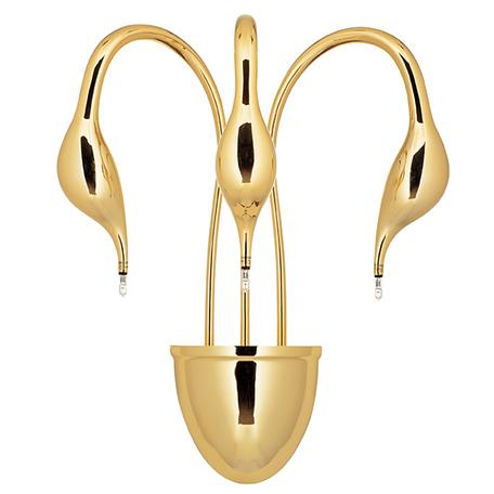 Бра Lightstar Cigno Collo 751632, 3xG4x20W, золото, металл
