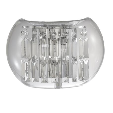 Бра Lightstar Acquario 753634, 3xG4x20W, хром, прозрачный, металл, стекло, хрусталь