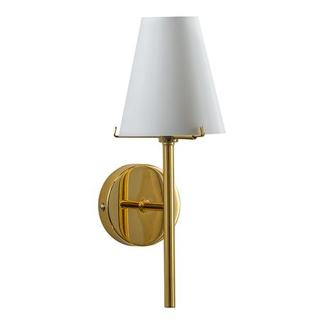 Бра Lightstar Diafano 758612, 1xG9x40W, золото, белый, металл, стекло