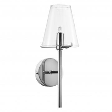 Бра Lightstar Diafano 758614, 1xG9x40W, хром, прозрачный, металл, стекло