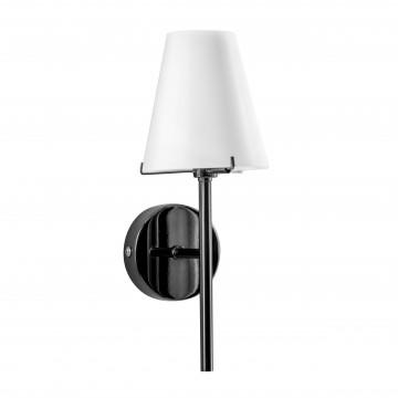 Бра Lightstar Diafano 758617, 1xG9x40W, черный хром, белый, металл, стекло