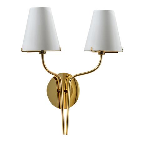 Бра Lightstar Diafano 758622, 2xG9x40W, золото, белый, металл, стекло