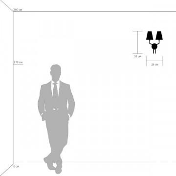 Бра Lightstar Diafano 758627, 2xG9x40W, черный хром, белый, металл, стекло - миниатюра 2