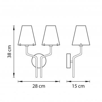 Схема с размерами Lightstar 758627