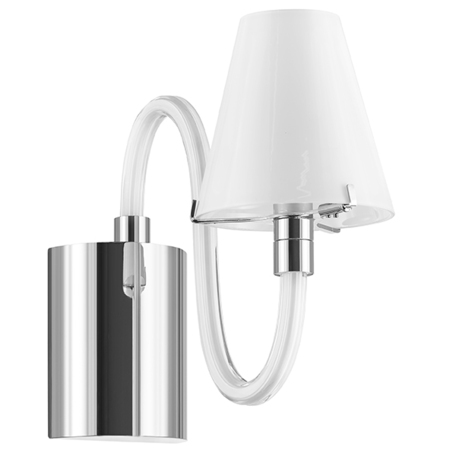 Бра Lightstar Bianco 760616, 1xG9x40W, хром, белый, металл со стеклом, стекло