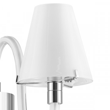 Бра Lightstar Bianco 760616, 1xG9x40W, хром, белый, металл со стеклом, стекло - миниатюра 2