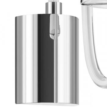 Бра Lightstar Bianco 760616, 1xG9x40W, хром, белый, металл со стеклом, стекло - миниатюра 3