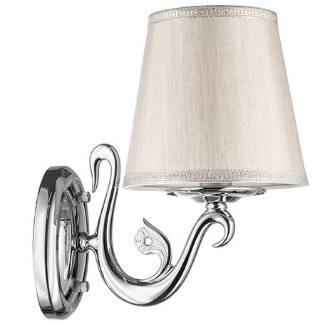 Бра Lightstar Engenuo 779514, 1xE14x40W, хром, серебро, бежевый, металл, текстиль