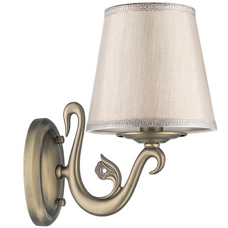 Бра Lightstar Engenuo 779518, 1xE14x40W, бронза, серебро, бежевый, металл, текстиль