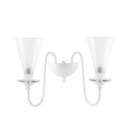 Бра Lightstar Torcia 780620, 2xG9x40W, белый, металл с хрусталем, стекло
