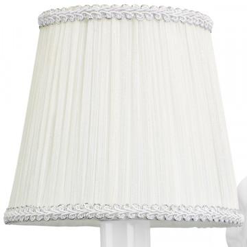 Бра Lightstar Modesto 781610, 1xE14x40W, белый, прозрачный, металл, текстиль, хрусталь - миниатюра 2