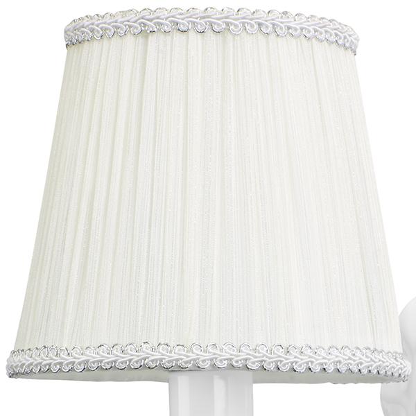 Бра Lightstar Modesto 781610, 1xE14x40W, белый, прозрачный, металл, текстиль, хрусталь - фото 2