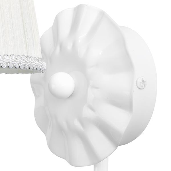 Бра Lightstar Modesto 781610, 1xE14x40W, белый, прозрачный, металл, текстиль, хрусталь - фото 3