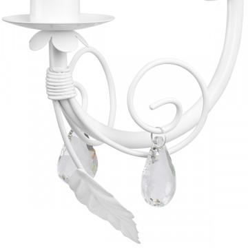 Бра Lightstar Modesto 781610, 1xE14x40W, белый, прозрачный, металл, текстиль, хрусталь - миниатюра 4