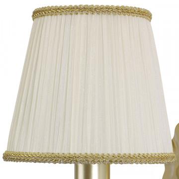 Бра Lightstar Modesto 781612, 1xE14x40W, матовое золото, белый, прозрачный, металл, текстиль, хрусталь - миниатюра 2
