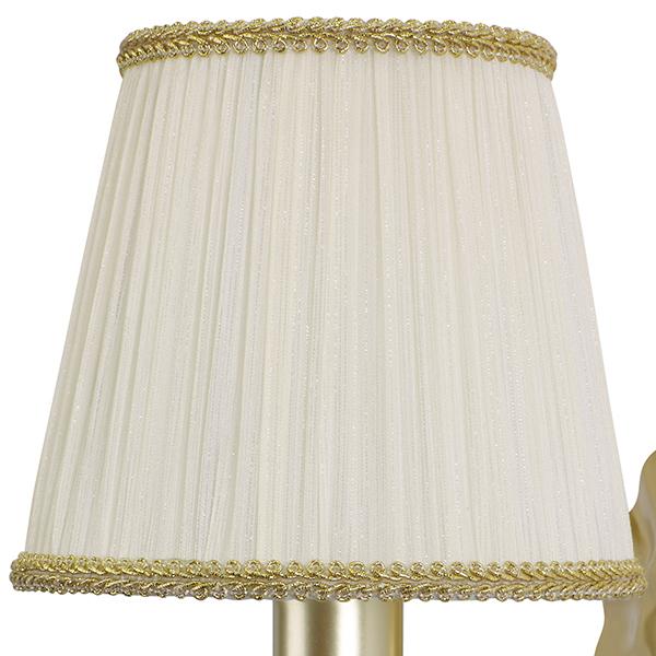 Бра Lightstar Modesto 781612, 1xE14x40W, матовое золото, белый, прозрачный, металл, текстиль, хрусталь - фото 2