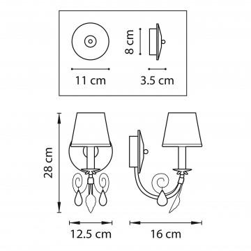Схема с размерами Lightstar 781612
