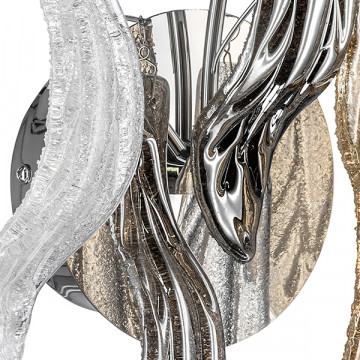 Бра Lightstar Vetro Colore 793635, 3xG4x20W, хром, дымчатый, янтарь, металл, стекло - миниатюра 4