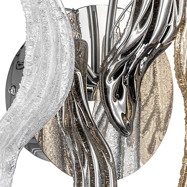 Бра Lightstar Vetro Colore 793635, 3xG4x20W, хром, дымчатый, янтарь, металл, стекло - фото 4