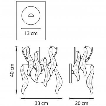 Схема с размерами Lightstar 793635