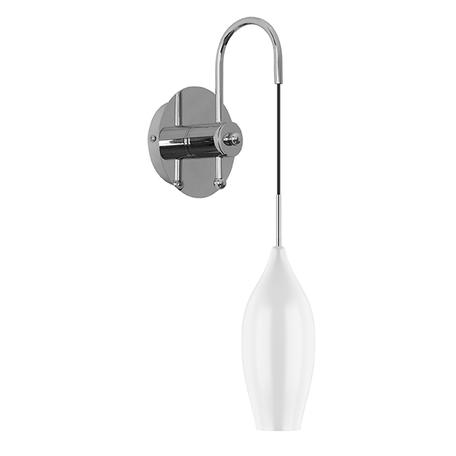 Бра Lightstar Pentola 803520, 1xE14x40W, хром, белый, металл, стекло