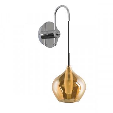 Бра Lightstar Pentola 803543, 1xG9x25W, хром, янтарь, металл, стекло