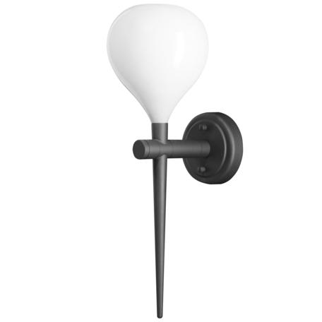 Бра Lightstar Forma 808650, 1xE14x40W, черный, белый, металл, стекло