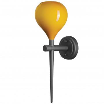 Бра Lightstar Forma 808653, 1xE14x40W, черный, желтый, металл, стекло