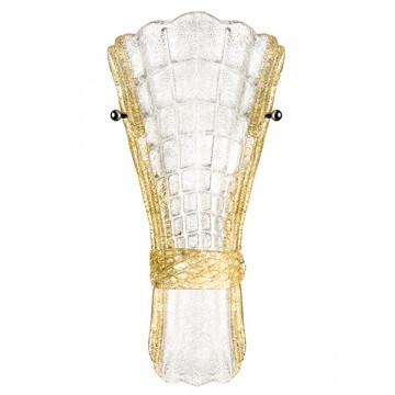 Бра Lightstar Zucche 820629, 2xG9x40W, золото, янтарь, металл, стекло