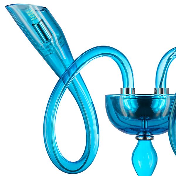 Бра Lightstar Stella 892621, 2xG9x6W, синий, стекло - фото 2