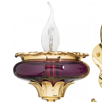 Бра Lightstar Osgona Melagro 695622, 2xE14x60W, золото, фиолетовый, красный, металл, стекло, хрусталь - миниатюра 2