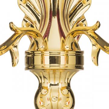 Бра Lightstar Osgona Melagro 695622, 2xE14x60W, золото, фиолетовый, красный, металл, стекло, хрусталь - миниатюра 3