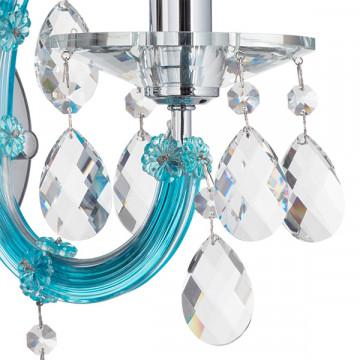 Бра Lightstar Osgona Champa Blu 698615, 1xE14x60W, голубой, прозрачный, стекло, хрусталь - миниатюра 4