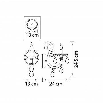 Схема с размерами Lightstar Osgona 698615