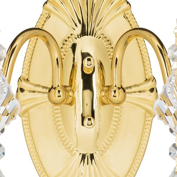 Бра Lightstar Osgona Classic 700622, 2xE14x60W, золото, прозрачный, металл с хрусталем, хрусталь - фото 3